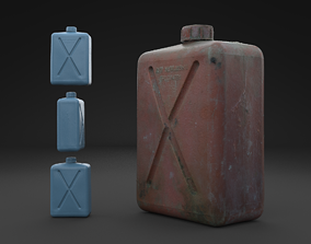 Scanned Old Jerrycan HIGH POLY 3D model
