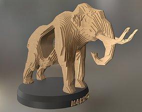 3D asset Parametric Wood Mammoth
