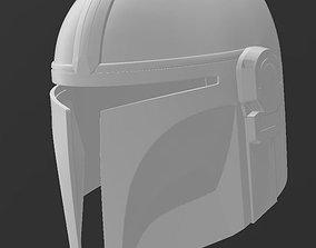 The Mandalorian Helmet 3D print model 3D model