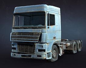 Semi-Trailer Truck Rusty 3D model