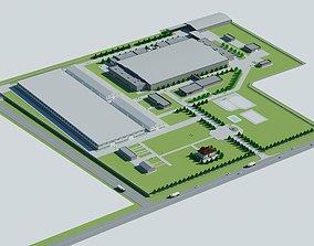 Factory Building 3D model storage