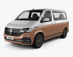 3D model Volkswagen Transporter Multivan Bulli 2019