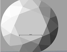 3D Diamond Crown