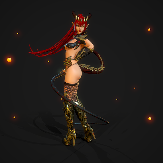 Succubus Girl - Game Ready Character
