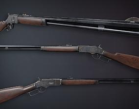 Lowpoly PBR Winchester 1873 3D model