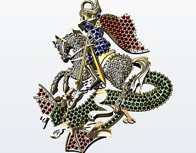 PENDANT SAINT GEORGE 3D print model