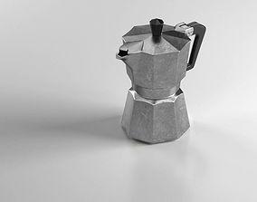 Italian Moka coffee pot 3D model
