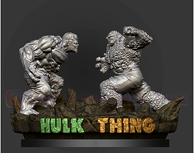 Hulk VS Thing Diorama Statue Printable