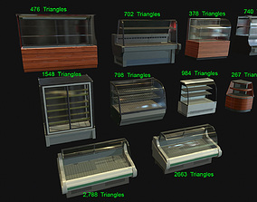 3D model Commercial Food Display counters