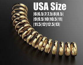 Classic band ring 5 mm 3D print model