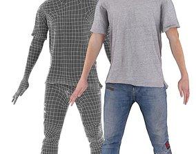 3D asset Manuel 001 Animated Dancing Man