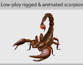 3D asset realtime animated scorpion