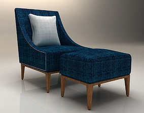 Chair with Footstool 3D model