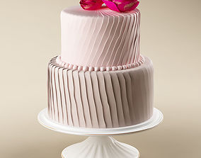 Cake 23 with roses 3D