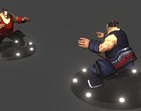 Fat Wrestler Rigged 3D asset