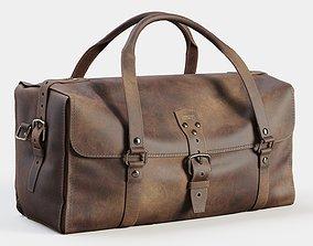 Three Strap Leather Duffle Bag 3D model
