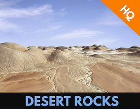 3D asset Rocks Terrain Cliffs Mountain Desert Landscape 4