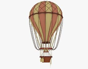 air balloon 3D asset game-ready