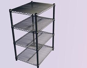3D asset Steel Shelves