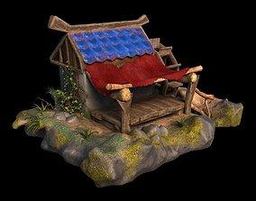 3D asset Cartoon Water mill
