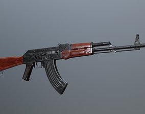 3D model VR / AR ready lowpoly AK 47