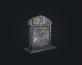 3D asset Gravestone 5
