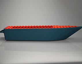 3D asset for LEGOman Game Boat hull floating 6x24x3
