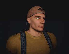 Post apocaliptic survival male character 3D asset