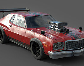 3D model game-ready Hot Rod Vehicle