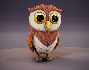 animal Cartoon Owl 3D Model game-ready