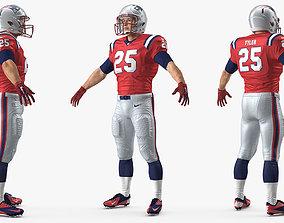 3D model New England Patriots American Football