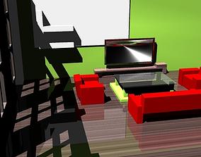 3D asset Living Room Interior