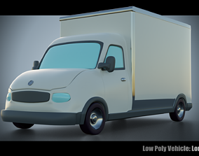 Low Poly Vehicle - Lorry 3D asset