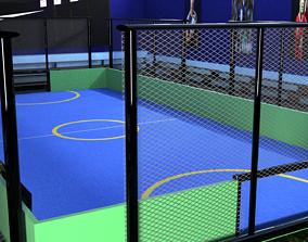 3D model futsal football stedium