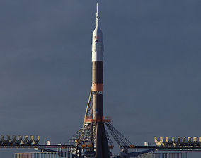3D model Soyuz Rocket