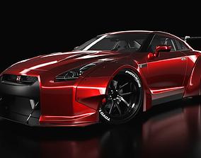racing nissan GT-R liberty walk 3D