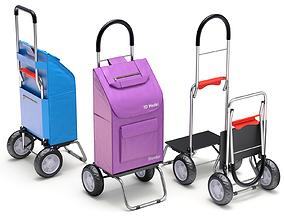 3D model push Foldable Shopping Cart
