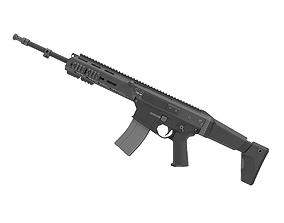 military 3D MSBS Grot Assault Rifle Modular Radom