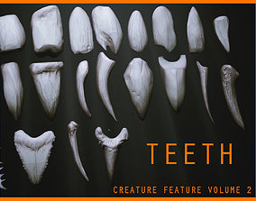 3D model TEETH - Zbrush 24 Assorted Teeth IMM Brush