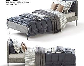 ikea SLATTUM twin bed 3D model