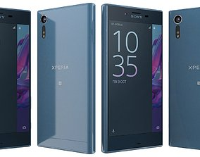 3D Sony Xperia XZ Forest blue