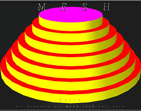 Round pyramid display 3D asset