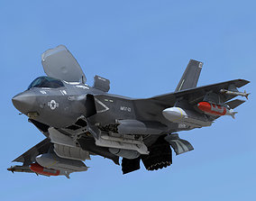 3D model US Air Force F-35 BF-4 Lightning II with pilot