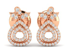 Women earrings 3dm stl render detail precious engagement