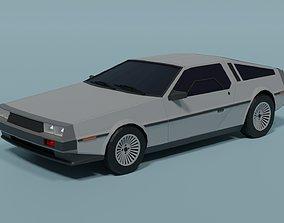 DeLorean DMC-12 3D asset