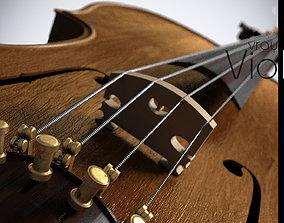 Violin antique 3D