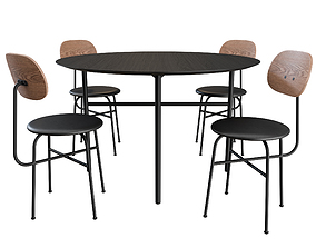 Afteroom Dining Chair and Snaregade Table By MENU 3D