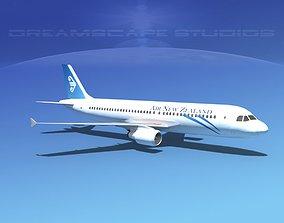3D model Airbus A320 LP Air New Zealand