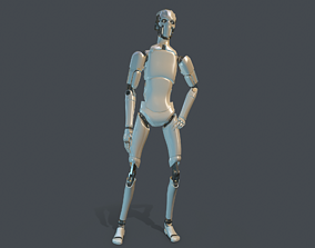 Sci-fi military robot 3D model