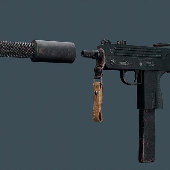 Airsoft submachine gun Ing M 10-11